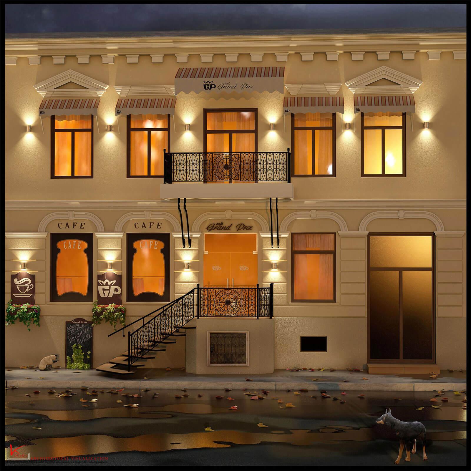 Restaurant 'Grand Prix' in Odessa