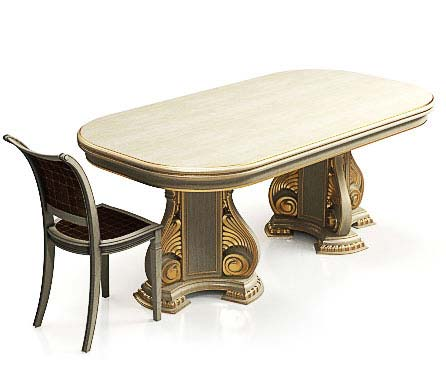 Classic table and chair
