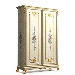 Classical painted cupboard 3d model