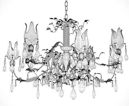 Classic lustre 03 3d model kstudio 3ds max plugins scripts classic chandelier wire aloadofball Images
