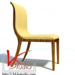 3d Model of Oak-Design Chair