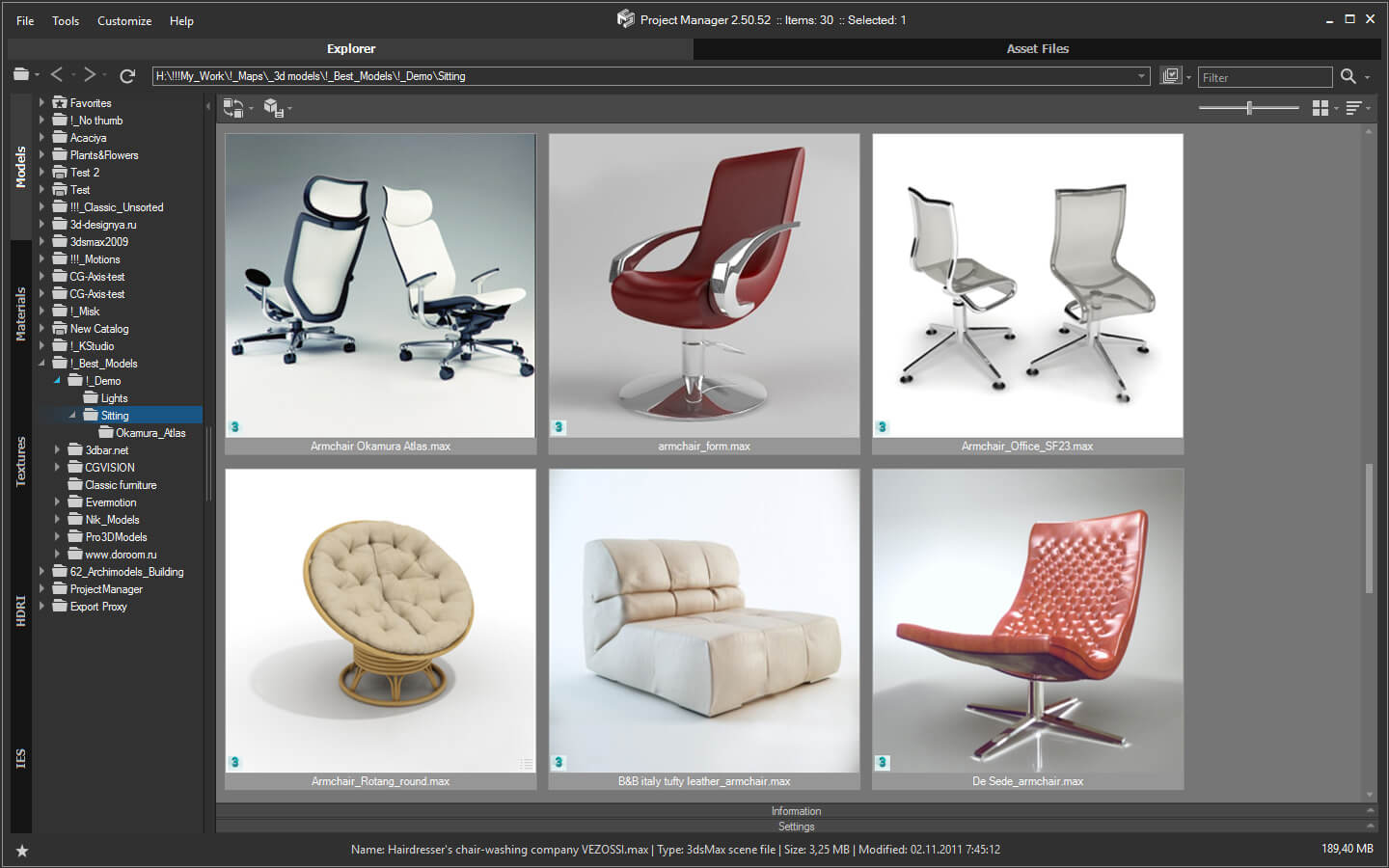 Project Manager Asset Browser Kstudio 3ds Max