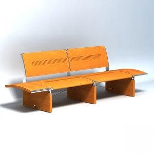 Bench 'Africa'  3D model