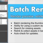 Batch Render&Relink 3dsmax scenes & materials