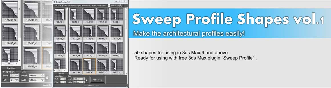 Sweep Profile plugin & shapes for simplify working with architectural profiles