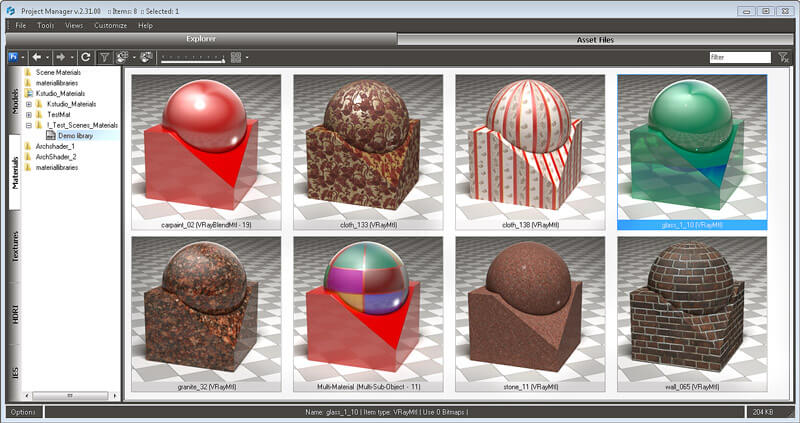 Material Studio - Asset Browser