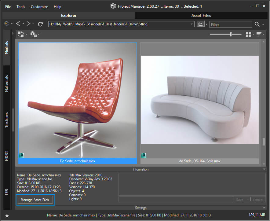 Working with 3D Models in Project Manager | Kstudio - 3ds