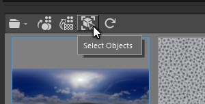 Selecting objects by dependets assets
