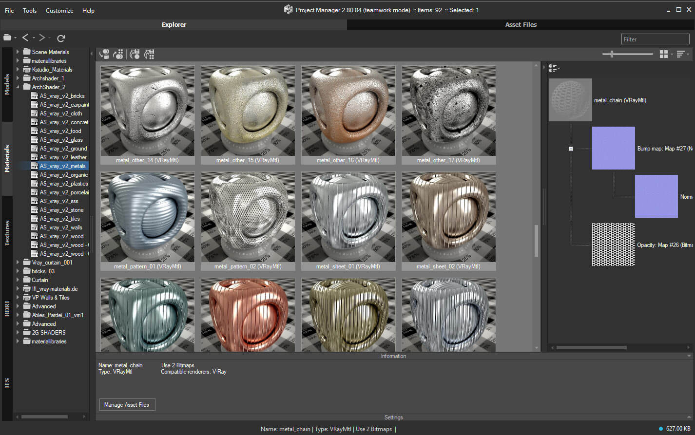 Project manager asset browser kstudio 3ds max for 3ds max design