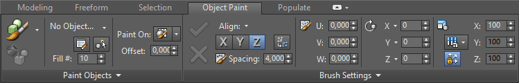 Paint Objects Panel