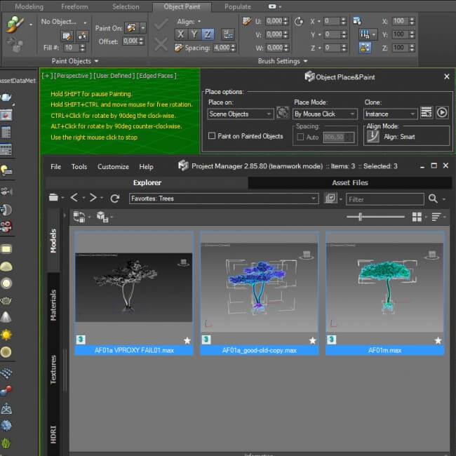Place&Paint 3D models