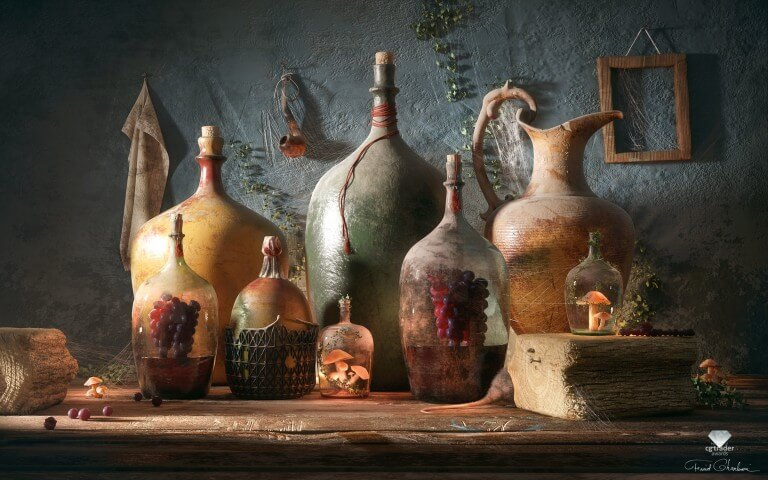 Bottles of life by Farid Ghanbari