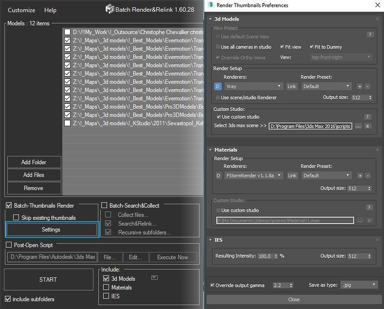 Batch Render&Relink + Rendering Preferences