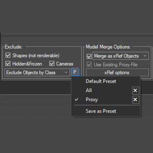 Project Manager version 2.92.50 - Adds an ability to save excluded from merging classes to presets