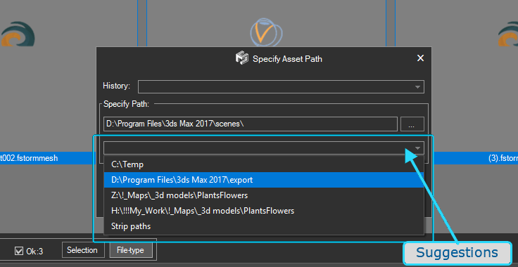 Specify Asset Path - Suggestions