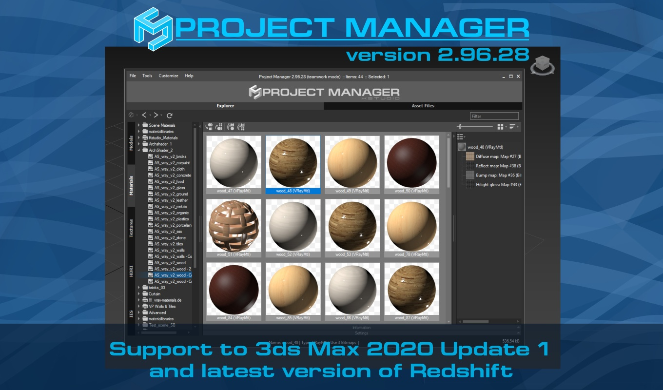 Asset Manager 2.96.28 - Adds support to 3ds Max 2020 Update 1 and latest version of Redshift