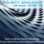 Project Manager - Fast mode for Batch Relinking. Fuzzy searching associated thumbnails
