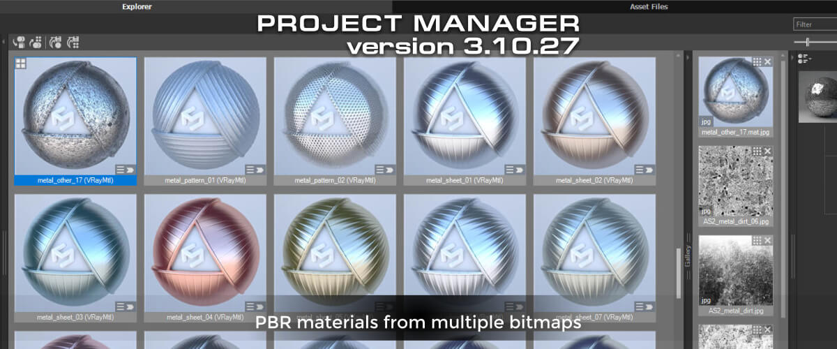 Project Manager - PBR materials from multiple bitmaps