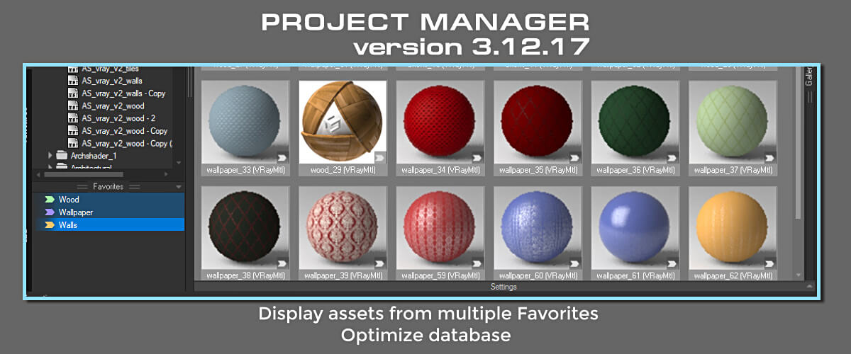 Project Manager - Display assets from multiple Favorites