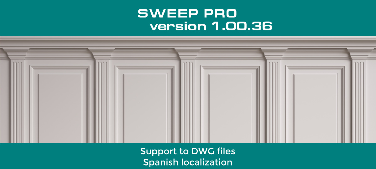 Sweep PRO - Autocad DWG files & Spanish localization