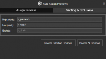 Auto-Assign Previews. Sorting & Exclusions