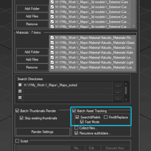 Fast mode - Batch relink multiple 3D files such as MAX and Material Libraries without opening