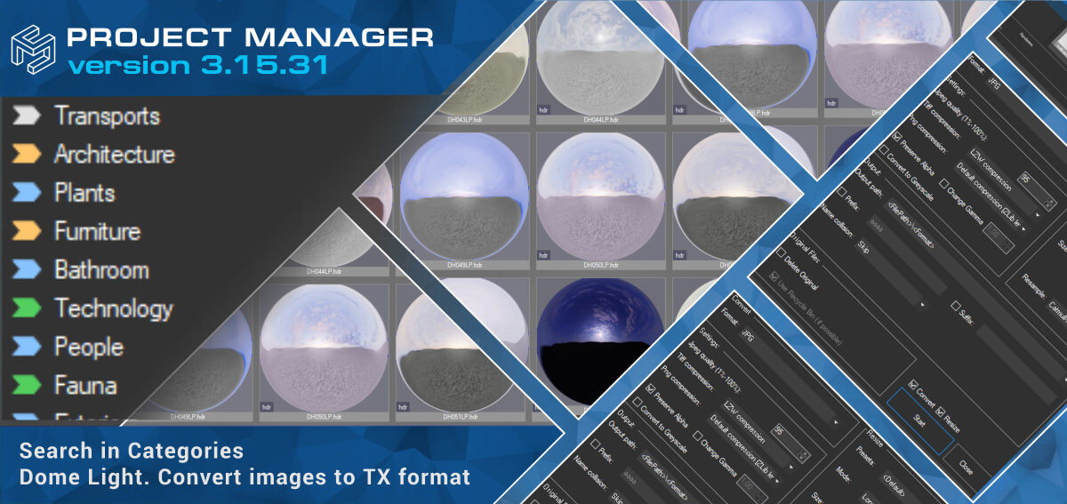 Project Manager - Dome Light. Search in Categories. Convert images to TX format