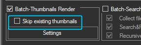 Skip rendering