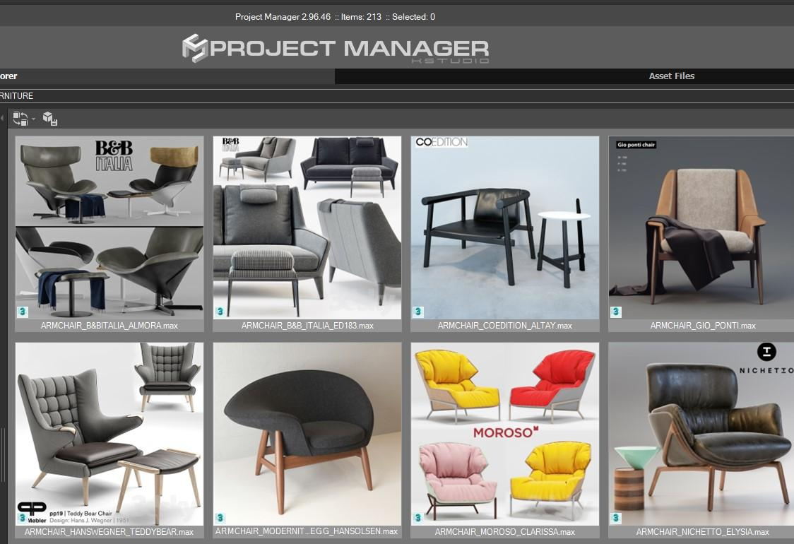3D Furniture. Project Manager