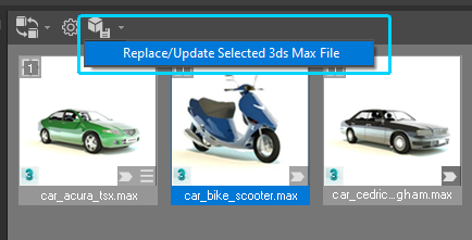Update/Replace selected 3ds max file
